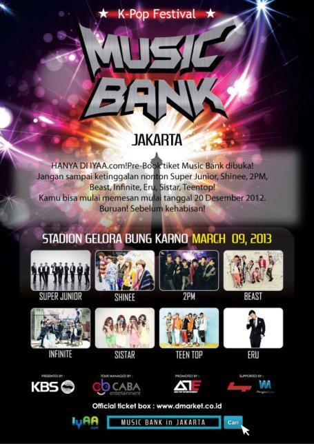 Music Bank Jakarta Maret 2013